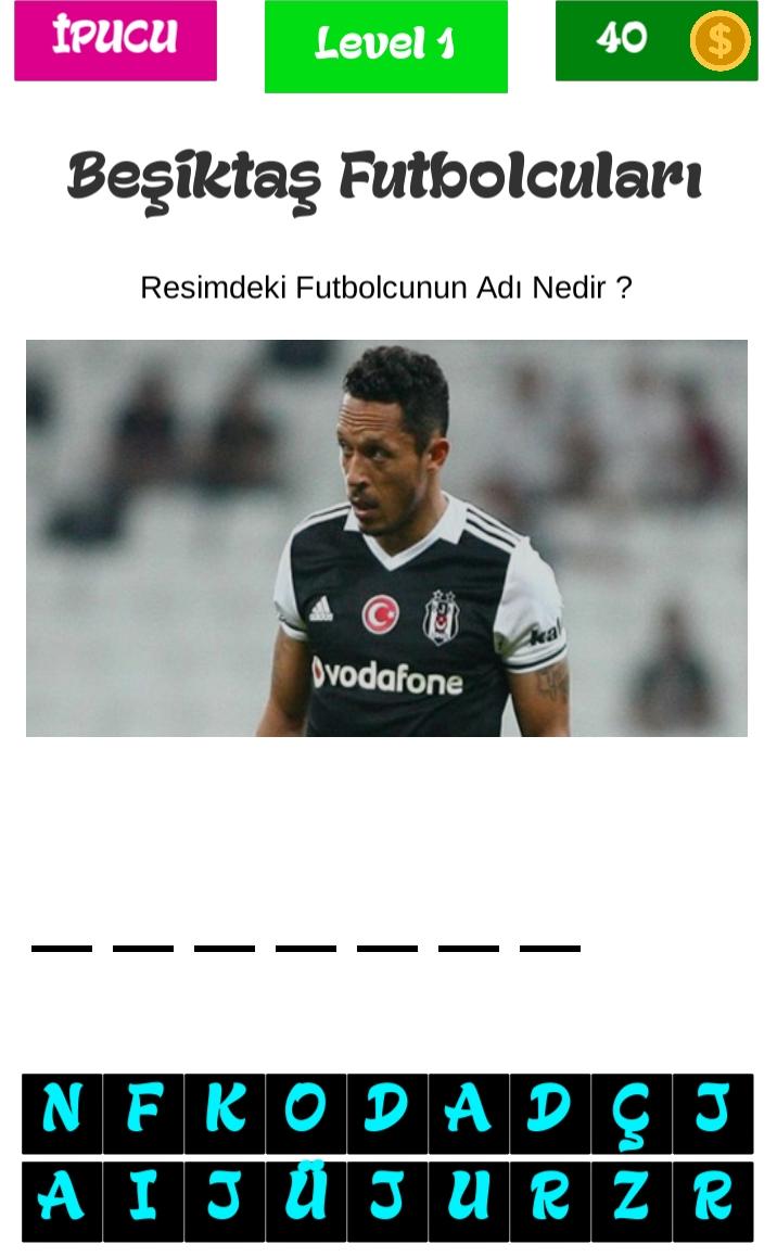 Beşiktaş Futbolcu Tahmin et Cevapları
