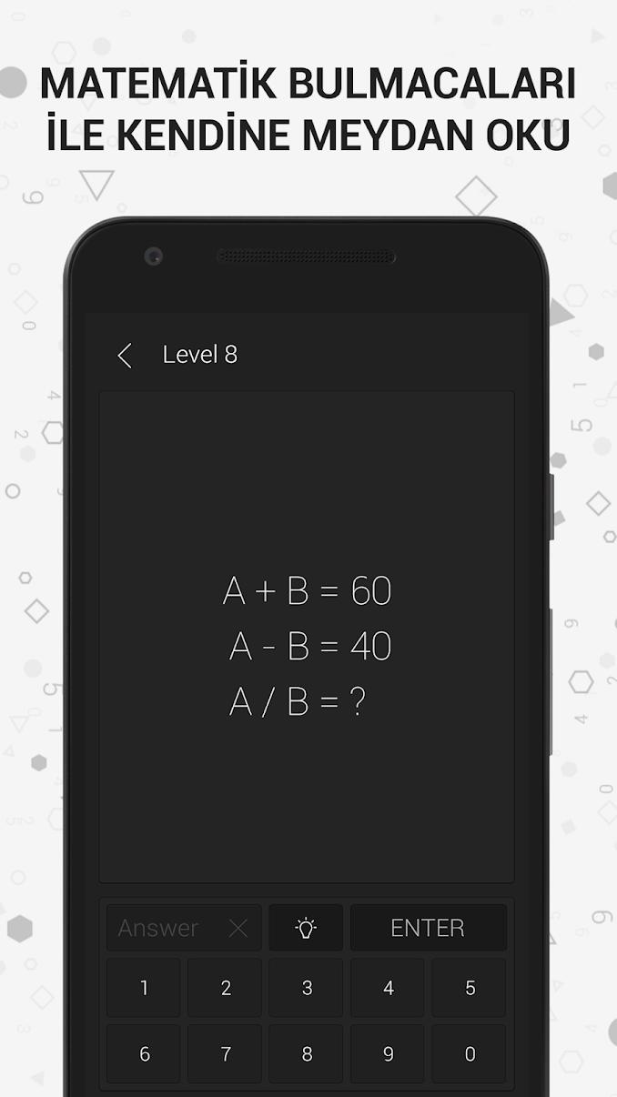 Math Riddles Matematik Oyunu Cevapları